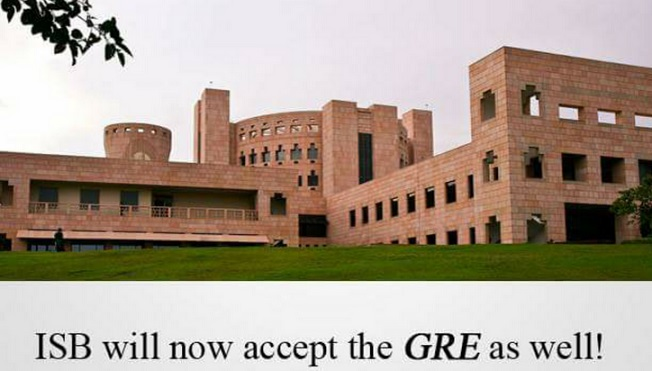 ISB to accept GRE scores from this year!